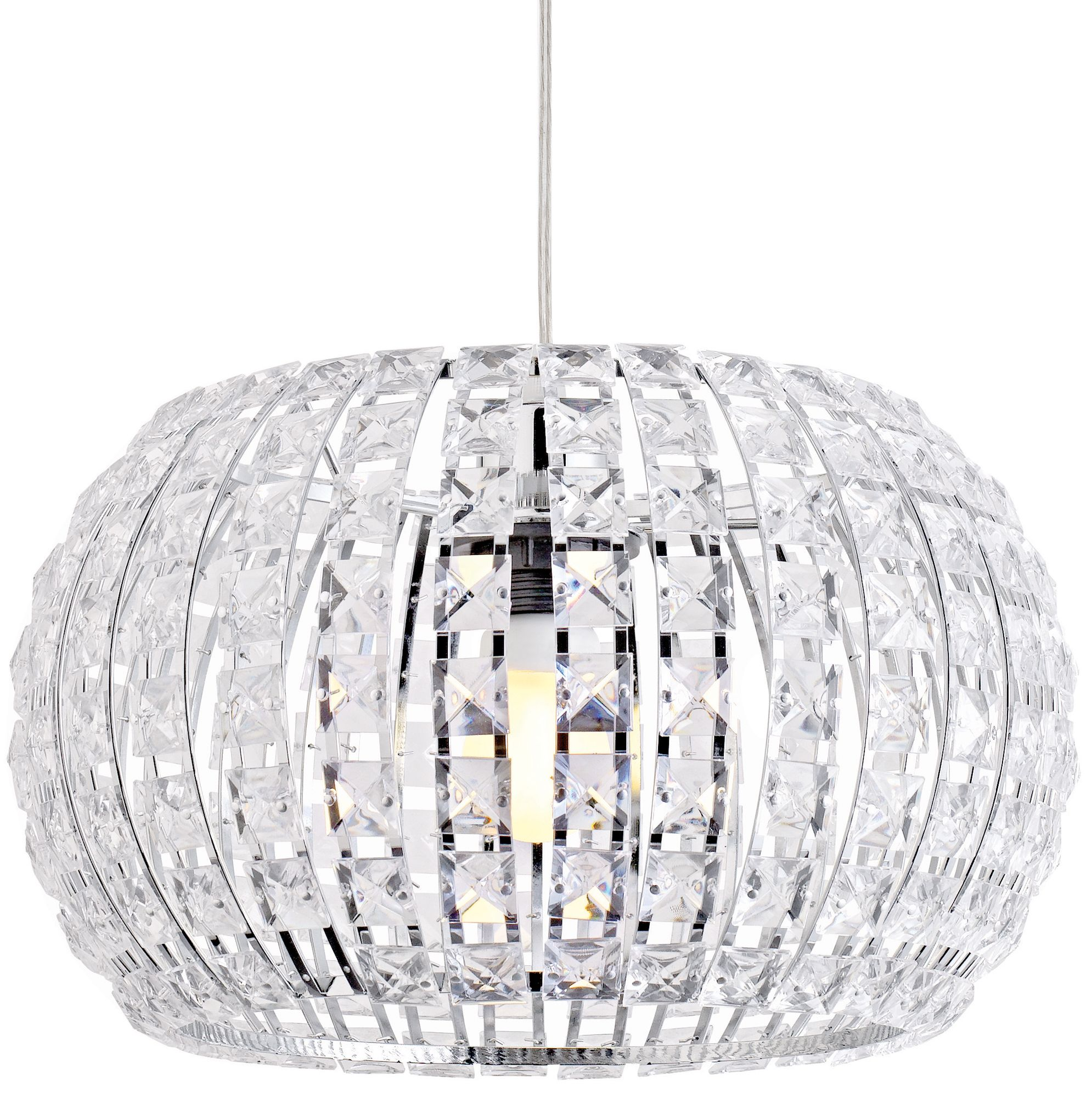 Oroid Chrome Effect Pendant Ceiling Light Departments