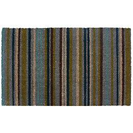Colours Melia Multicolour Stripe Coir Door Mat (L)450mm