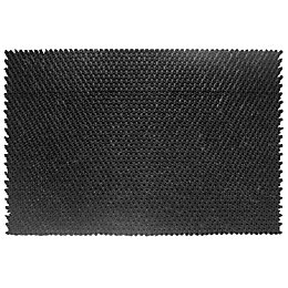 Diall Black Rubber Door Mat (L)400mm (W)600mm