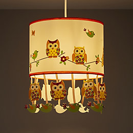 Colours Oratory Multicolour Owl Design Light Shade (D)250mm