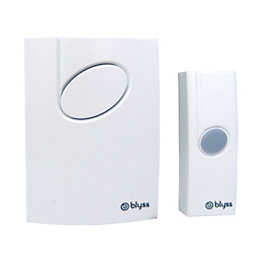 Blyss Wirefree White Portable Door Bell Kit