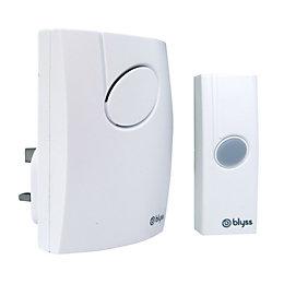 Blyss Wirefree White Plug-In Door Bell Kit