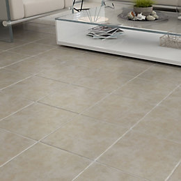 Calcuta Natural Stone Effect Ceramic Floor Tile, Pack