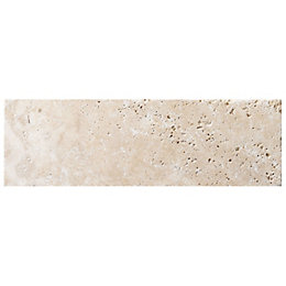 Tumbled Light beige Stone effect Travertine Wall tile,