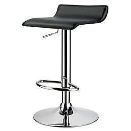Dante Black Bar Stool (H)850mm (W)370mm