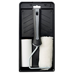 """Diall 4"""" Foam & Polyacrylic Roller & Tray"""