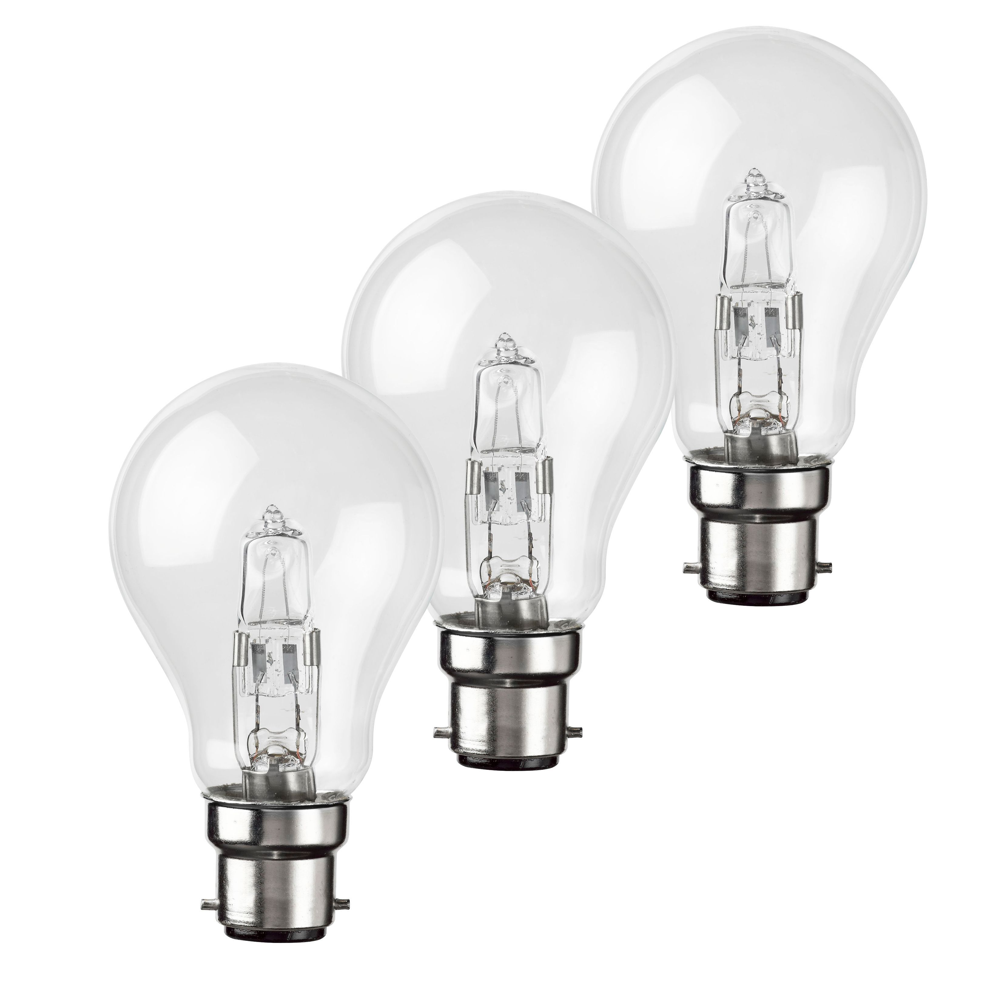 Diall B22 70W Halogen Eco Dimmable Gls Light Bulb, Pack