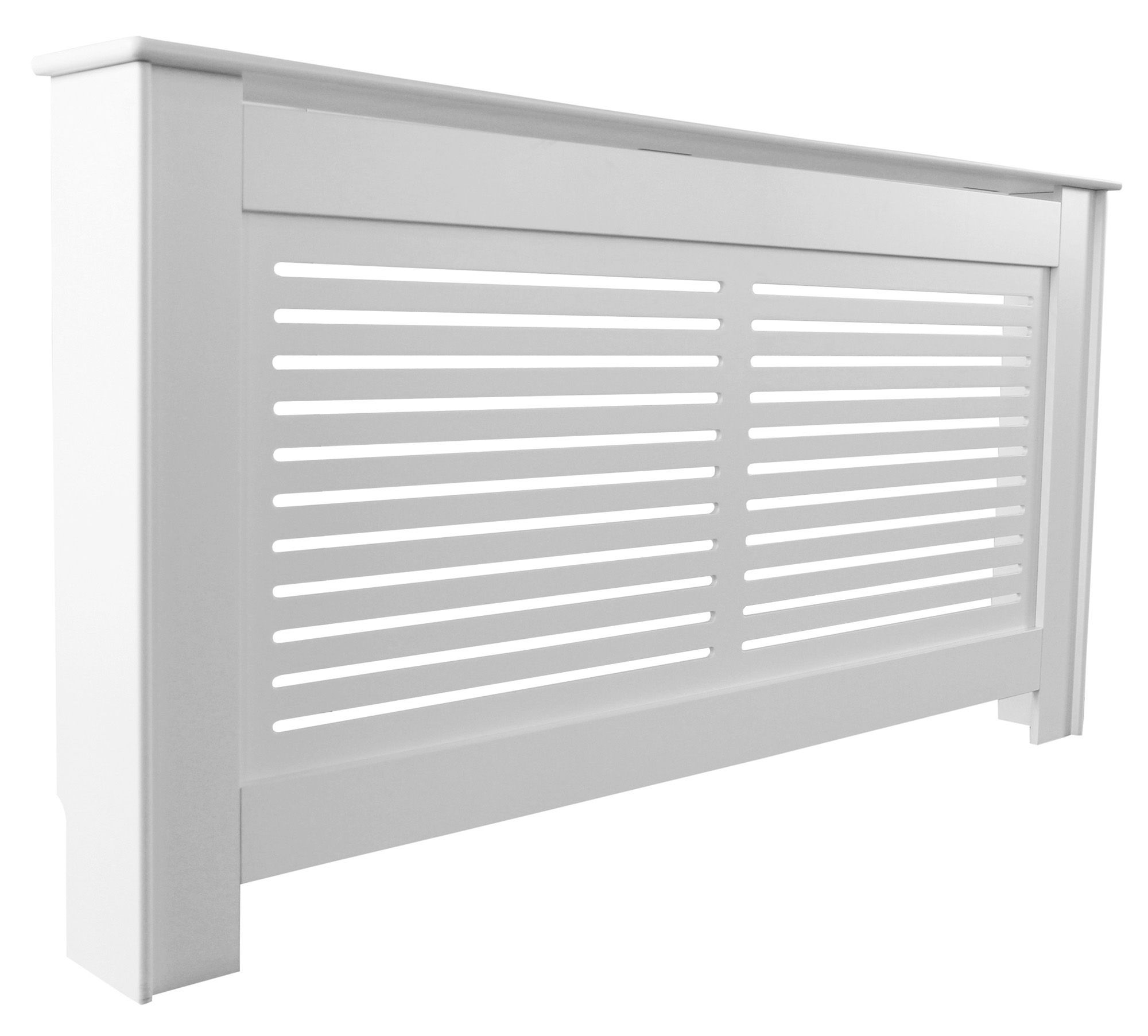 Suffolk Large White Painted Radiator Cover Departments