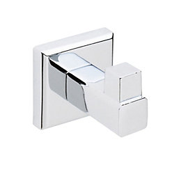 Cooke & Lewis Linear Chrome Effect Robe Hook