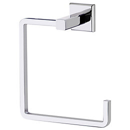 Cooke & Lewis Linear Chrome effect Towel ring,