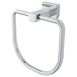 Cooke & Lewis Axis Chrome Effect Towel Ring,