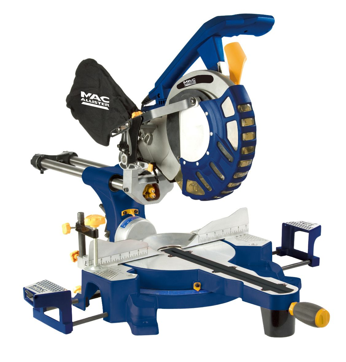 Mac Allister 1800w 240v 255mm Compound Mitre Saw Mms254sl Departments Diy At B Q