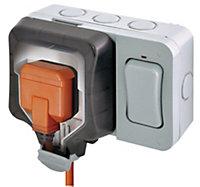 Diall 13A 1-Gang External Socket