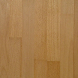 40mm Square edge Solid beech Breakfront worktop (L)3m