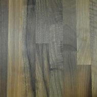40mm Square edge Solid walnut Breakfront worktop (L)3m (D)675mm