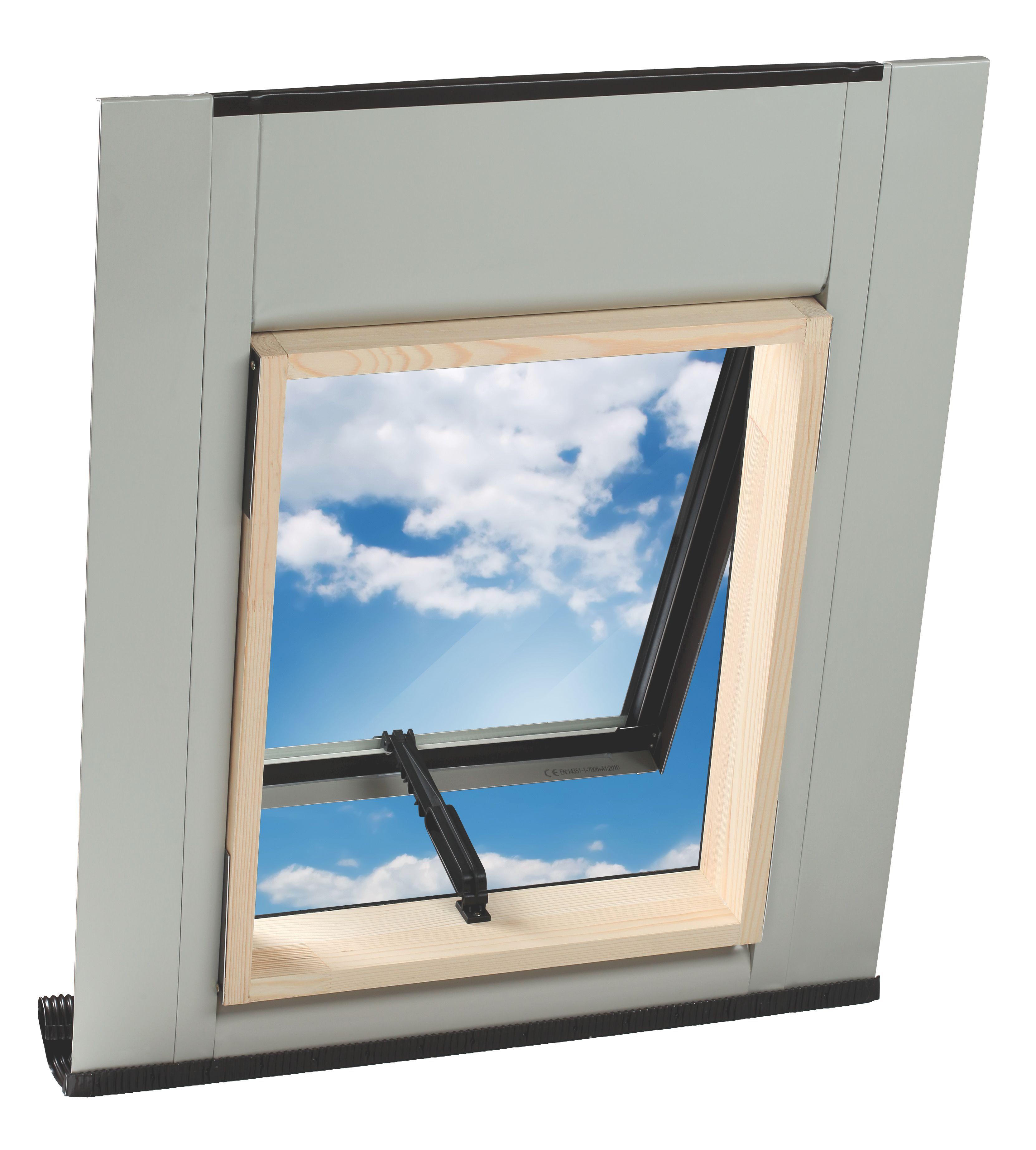 Geom Aero Pine Top Hung Roof Window H 550mm W 450mm