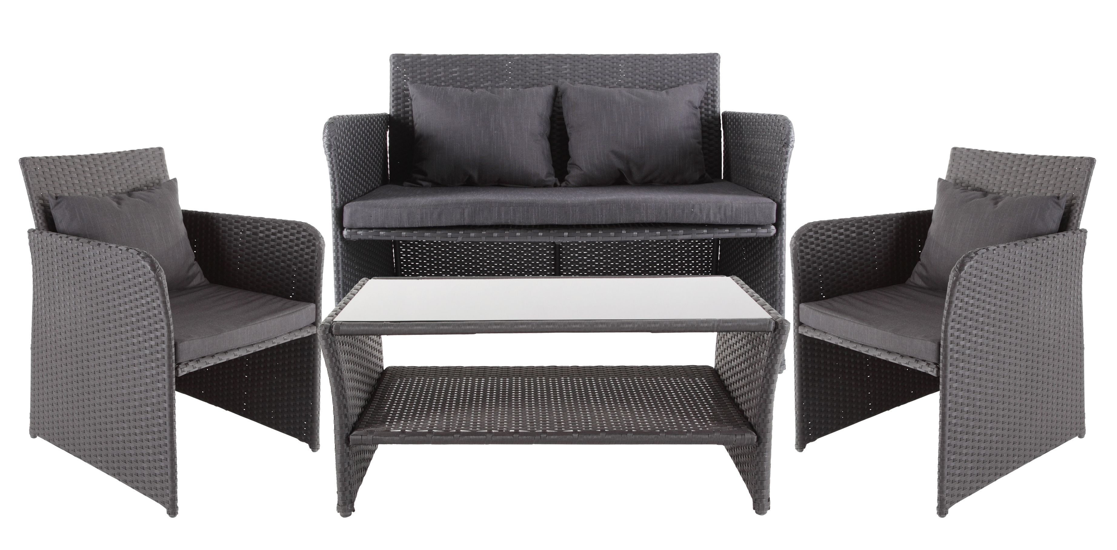 Morley Rattan Effect 4 Seater Coffee Set Departments