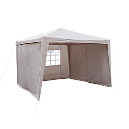 Blooma Jarvis Taupe Gazebo with side walls