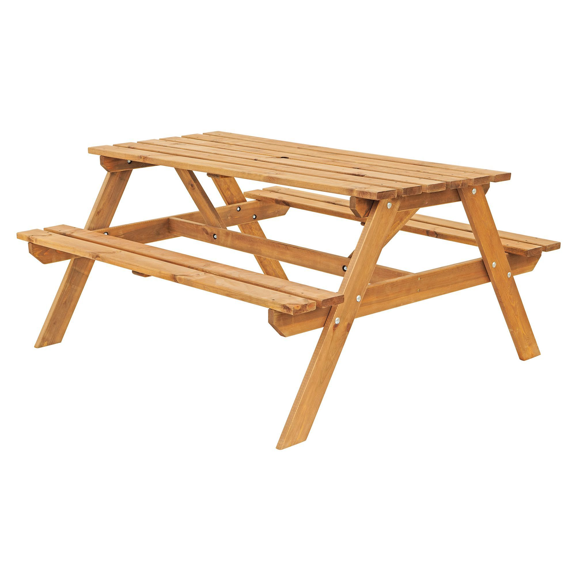 Batam Timber Picnic Bench Departments DIY At BampQ