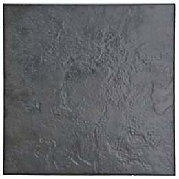 Cirque Black Stone effect Ceramic Floor tile, Pack