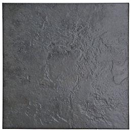 Cirque Black Stone effect Ceramic Floor tile, Pack