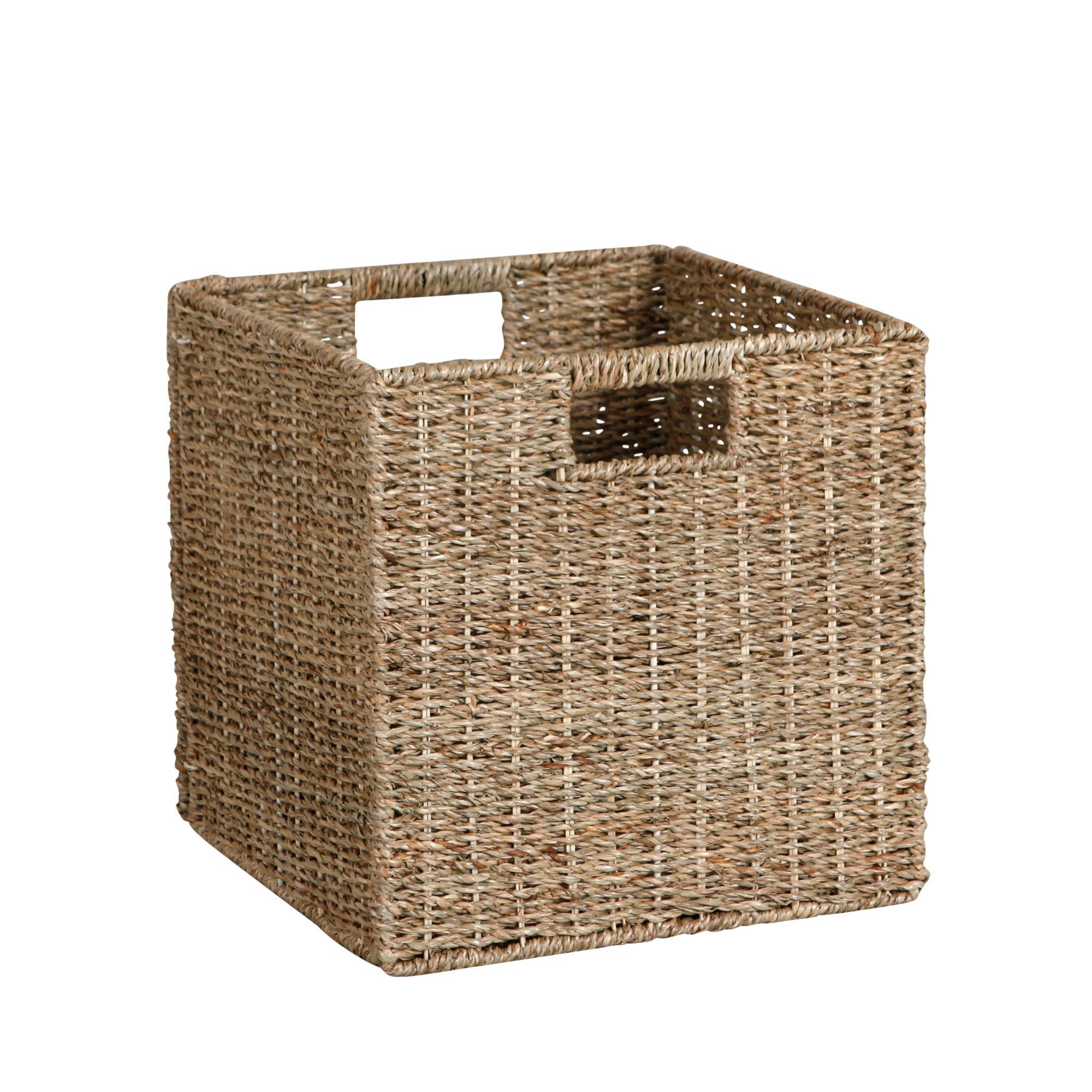 Wicker Basket Storage Cube : Cube storage baskets home ideas