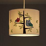 Colours Rosalba White Owl Light shade (D)250mm