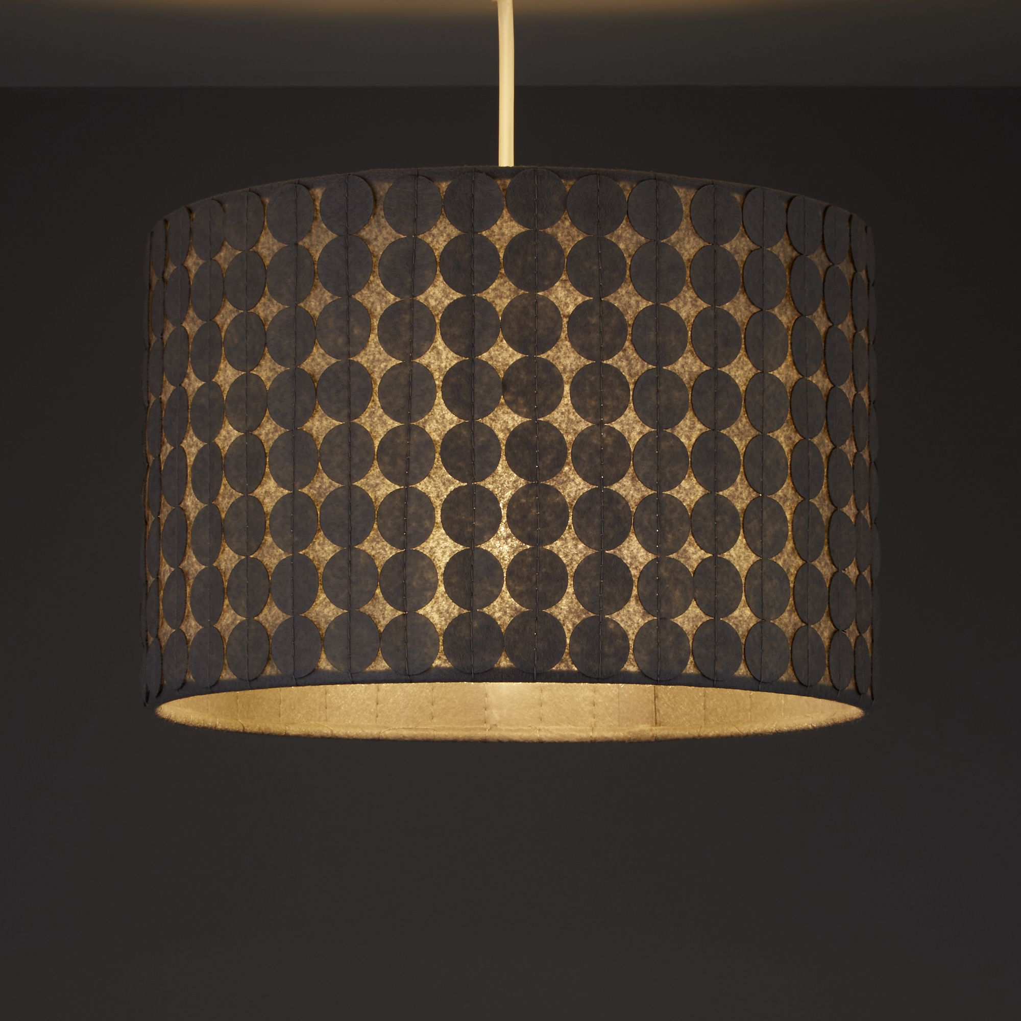 Colours Luta Grey Dotty Light Shade (D)300mm