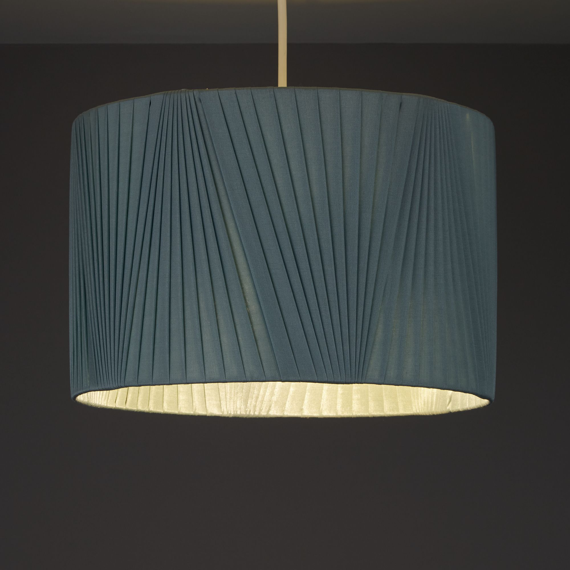 Colours Lainie Blue V-Pleat Light Shade (D)300mm