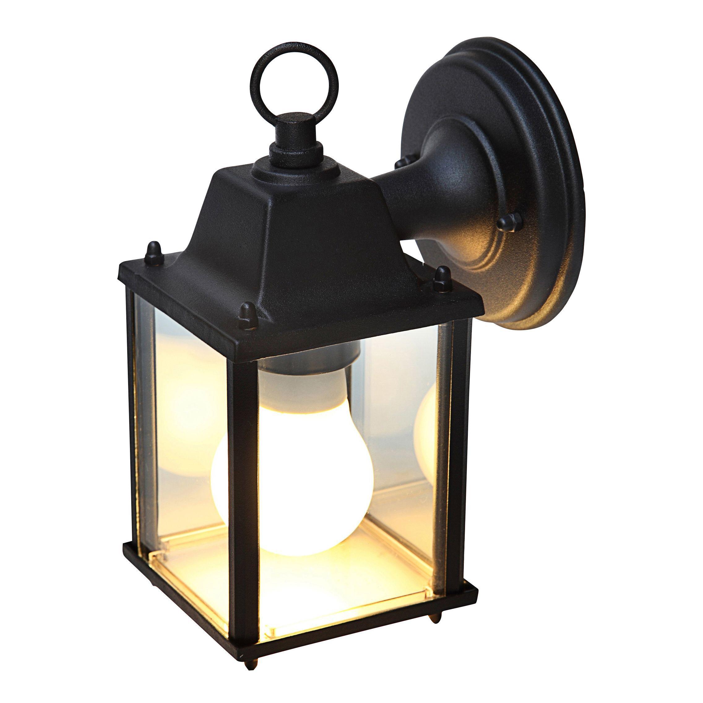 Blooma Sollies Black Mains Powered External Wall Light
