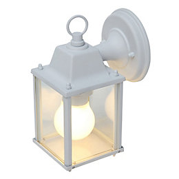 Blooma Sollies White Mains Powered External Wall Light