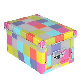 Pixel Multicolour Plastic Storage box