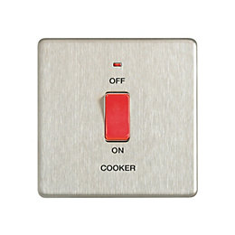 Colours 45A Double Pole Cooker Switch