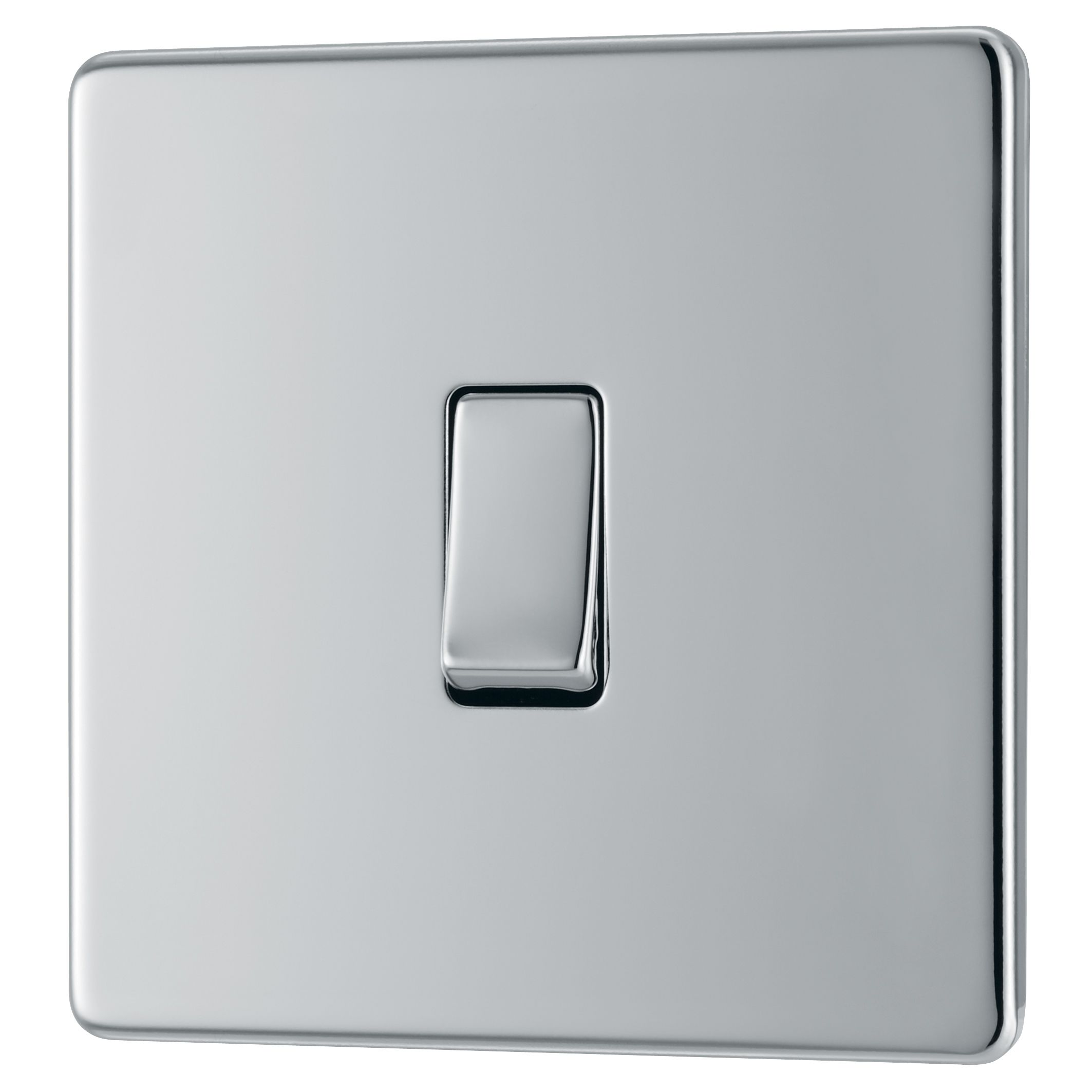 Colours 10A 2-Way Single Polished chrome Light switch | Departments ...
