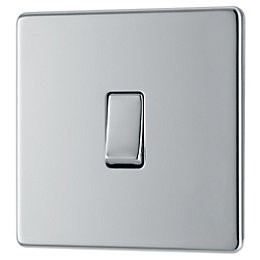Colours 10A 2-Way Single Polished Chrome Light Switch
