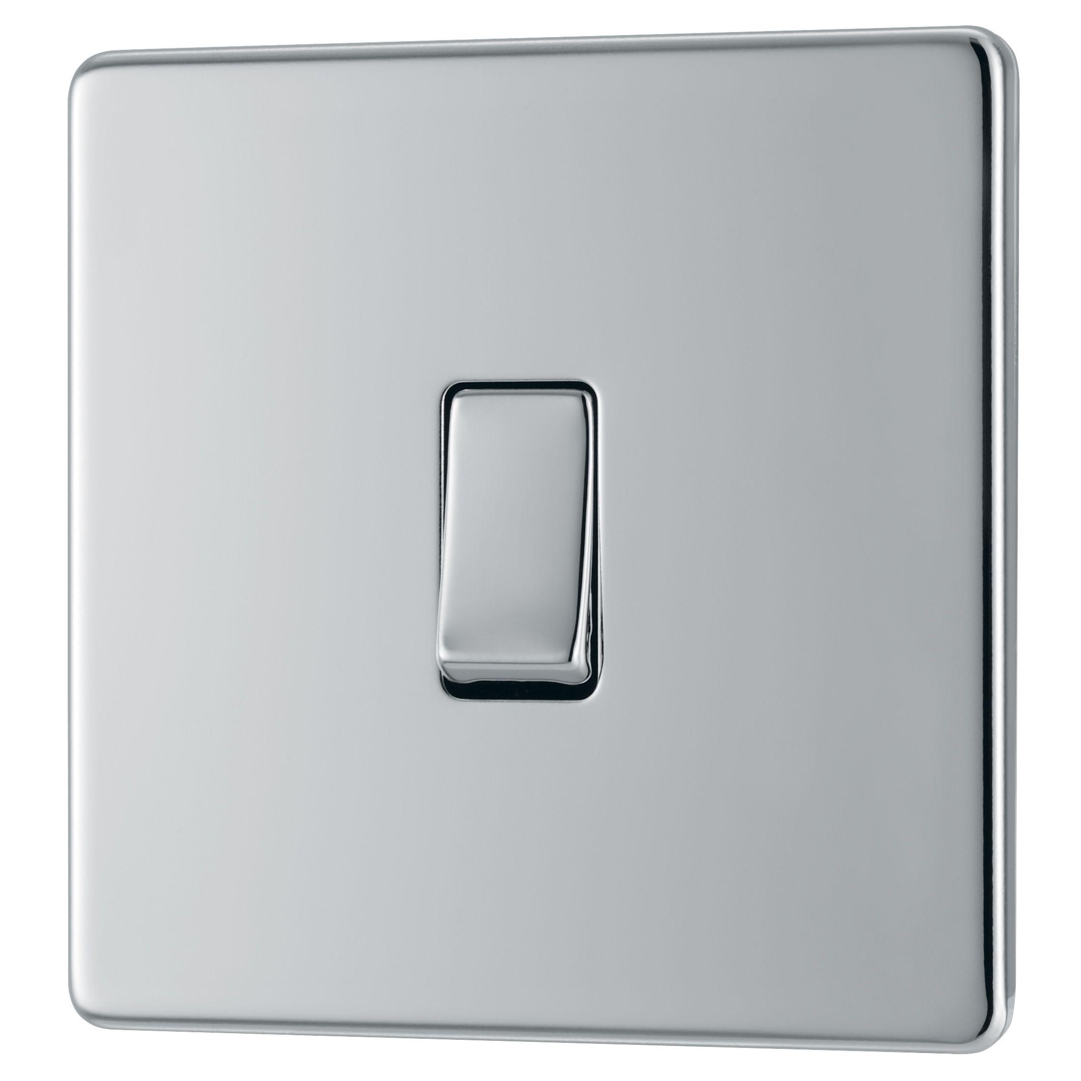 Colours 10A 2-Way Single Polished Chrome Intermediate Switch ...