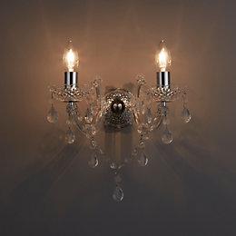 Annelise Chrome Effect Wall Light