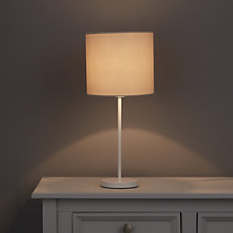 Evinos White Gloss Table Lamp Base