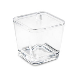Cooke & Lewis Jeta Clear Cotton Ball Box