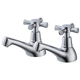 Plumbsure Crystal Chrome finish Hot & cold bath