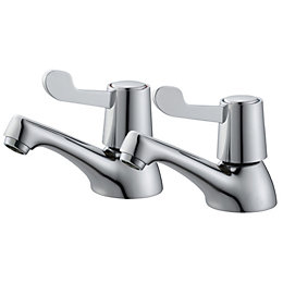 Plumbsure Amber Chrome finish Hot & cold bath