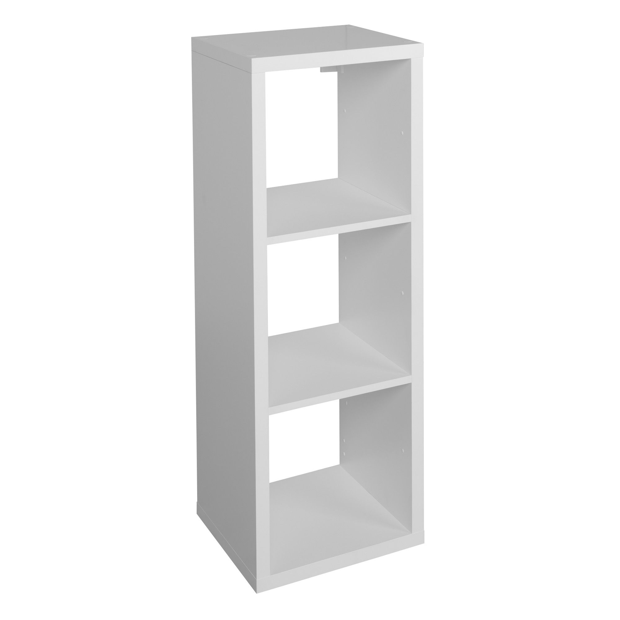 form mixxit white 3 cube shelving unit h 1082mm w 390mm departments diy at b q. Black Bedroom Furniture Sets. Home Design Ideas