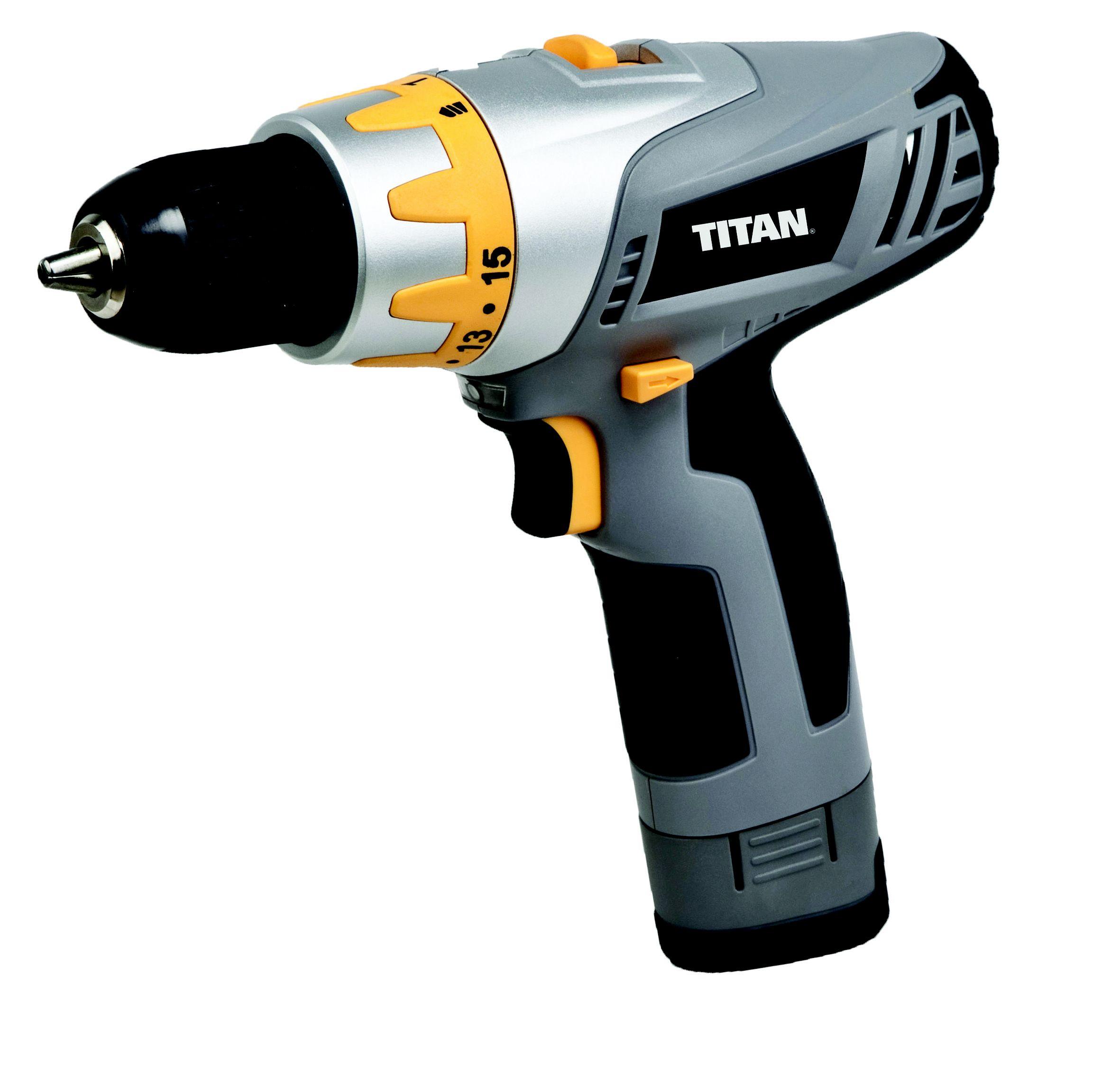 5052931211173 778822 Titan 10 8v Drill Driver 1x1 3ah Li