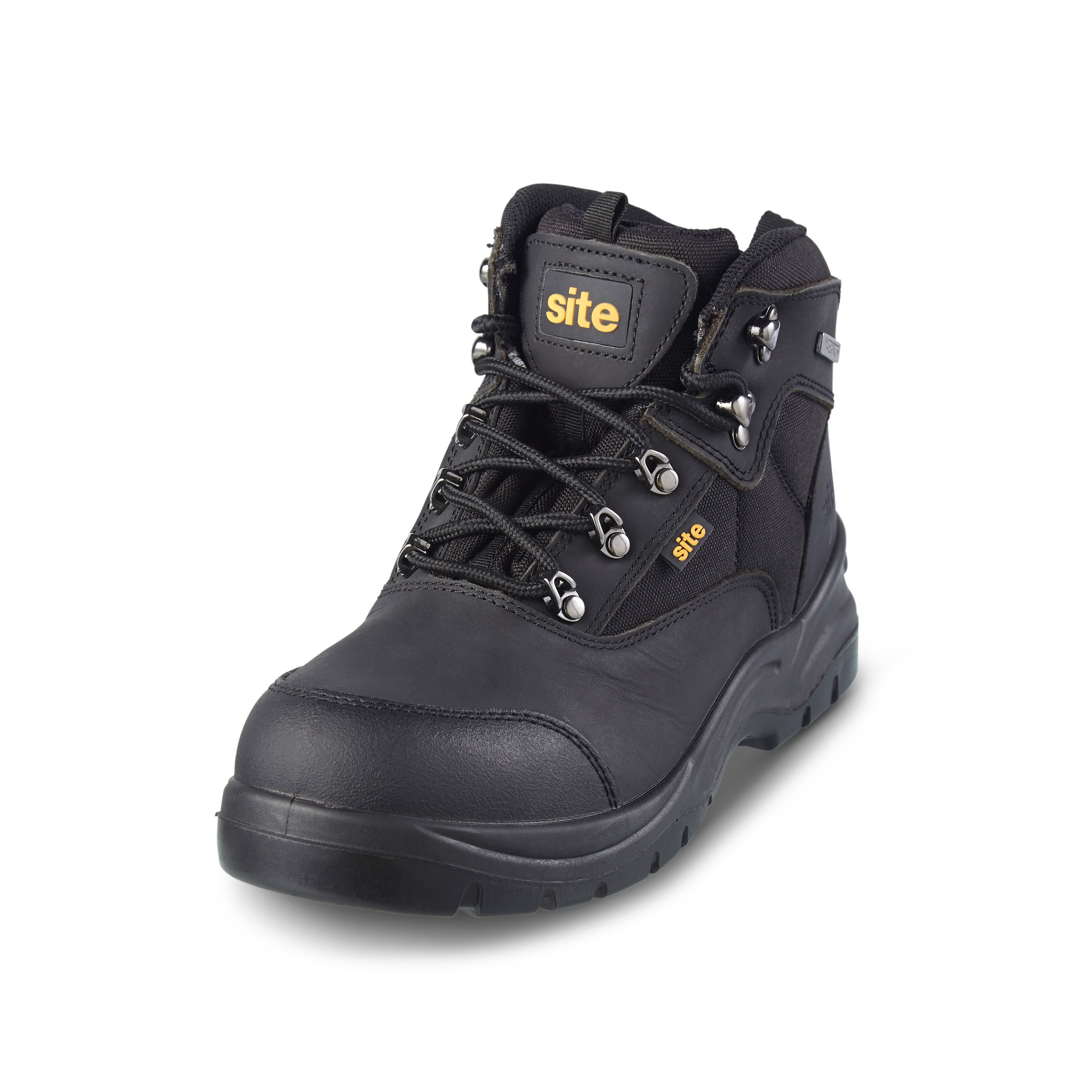 fc32efc0a90 Site Onyx Black Safety boots, Size 9 | Departments | DIY at B&Q