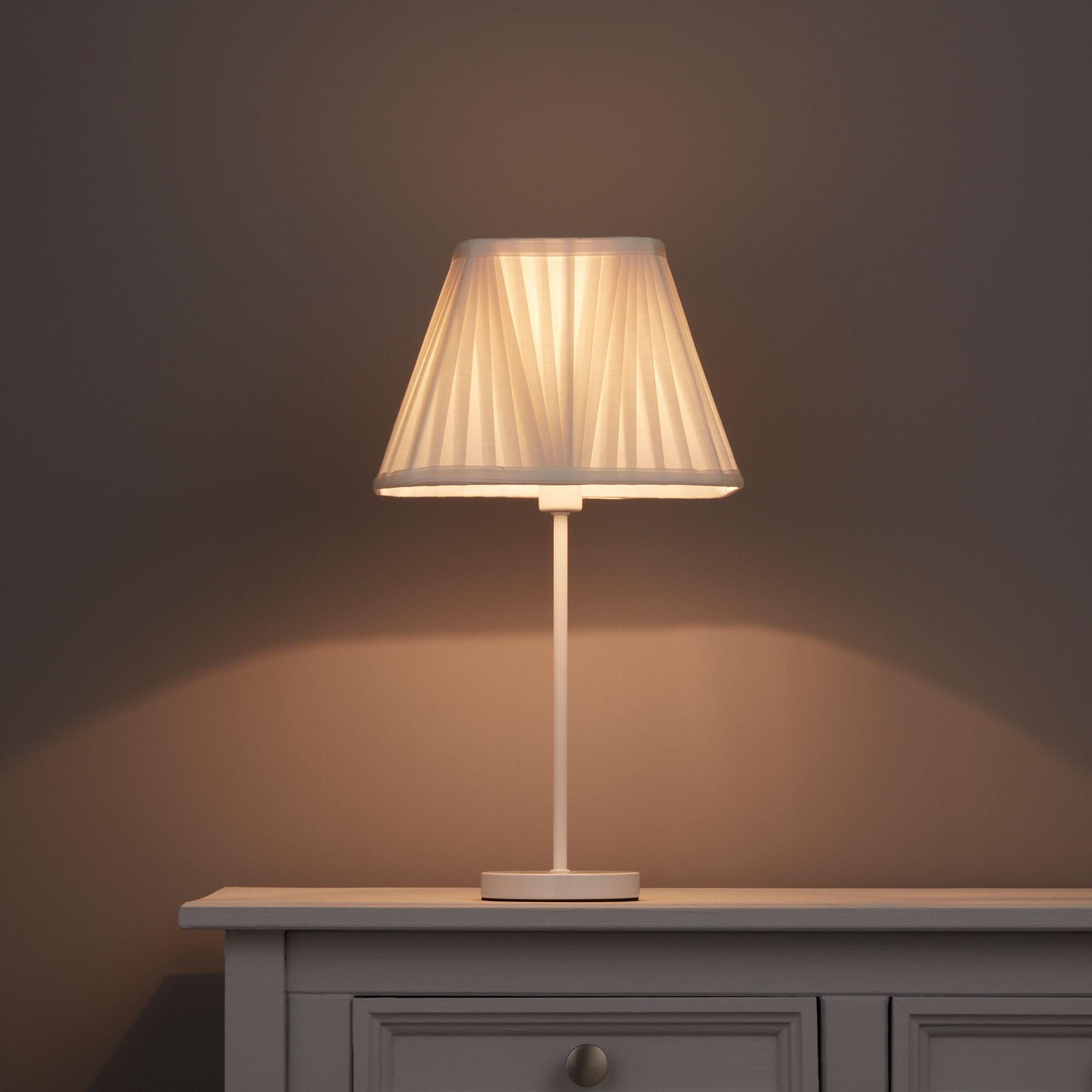 Colours Conwey Ivory Pleated Light Shade (D)250mm
