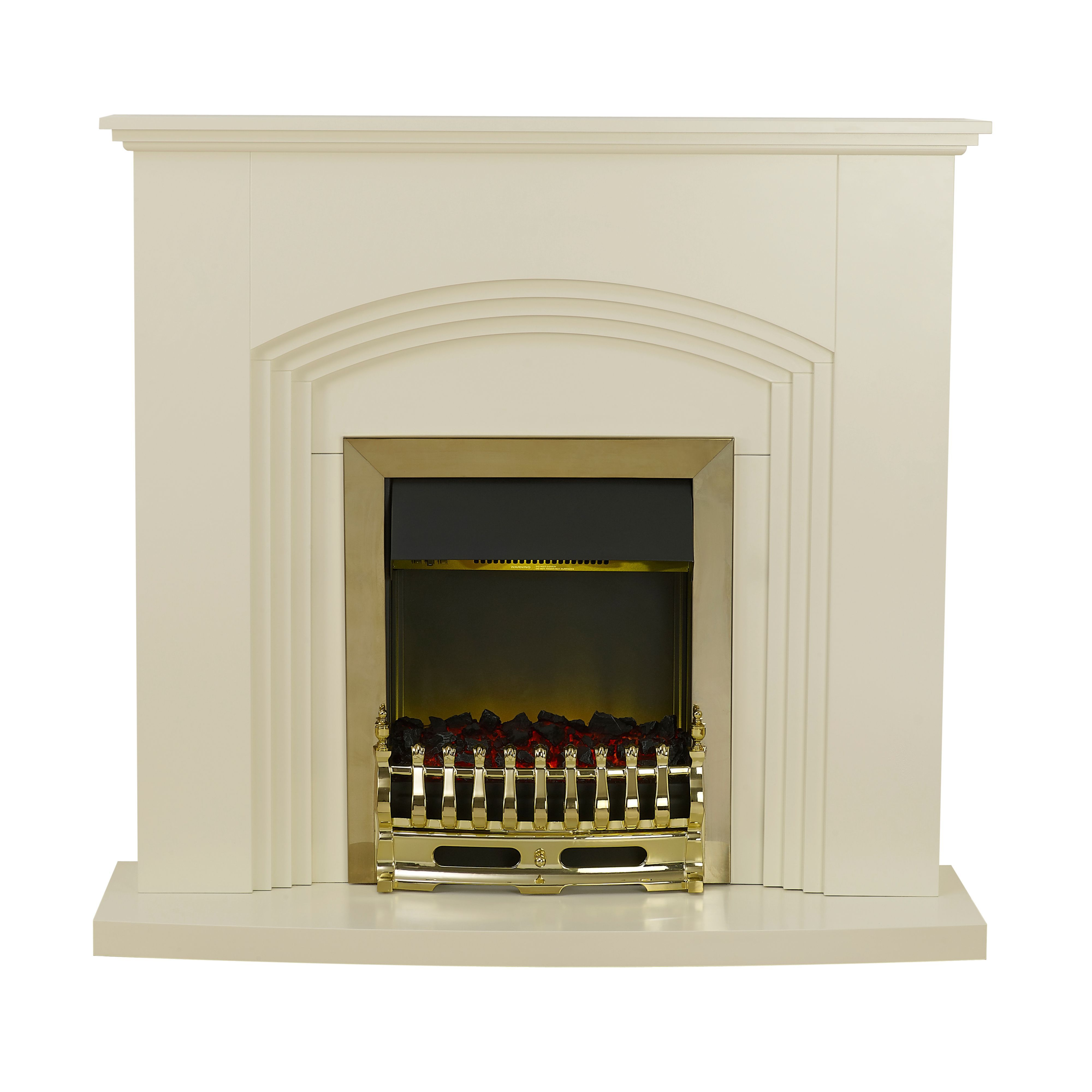 Blyss Kirkdale Cream Electric Freestanding Electric Fire