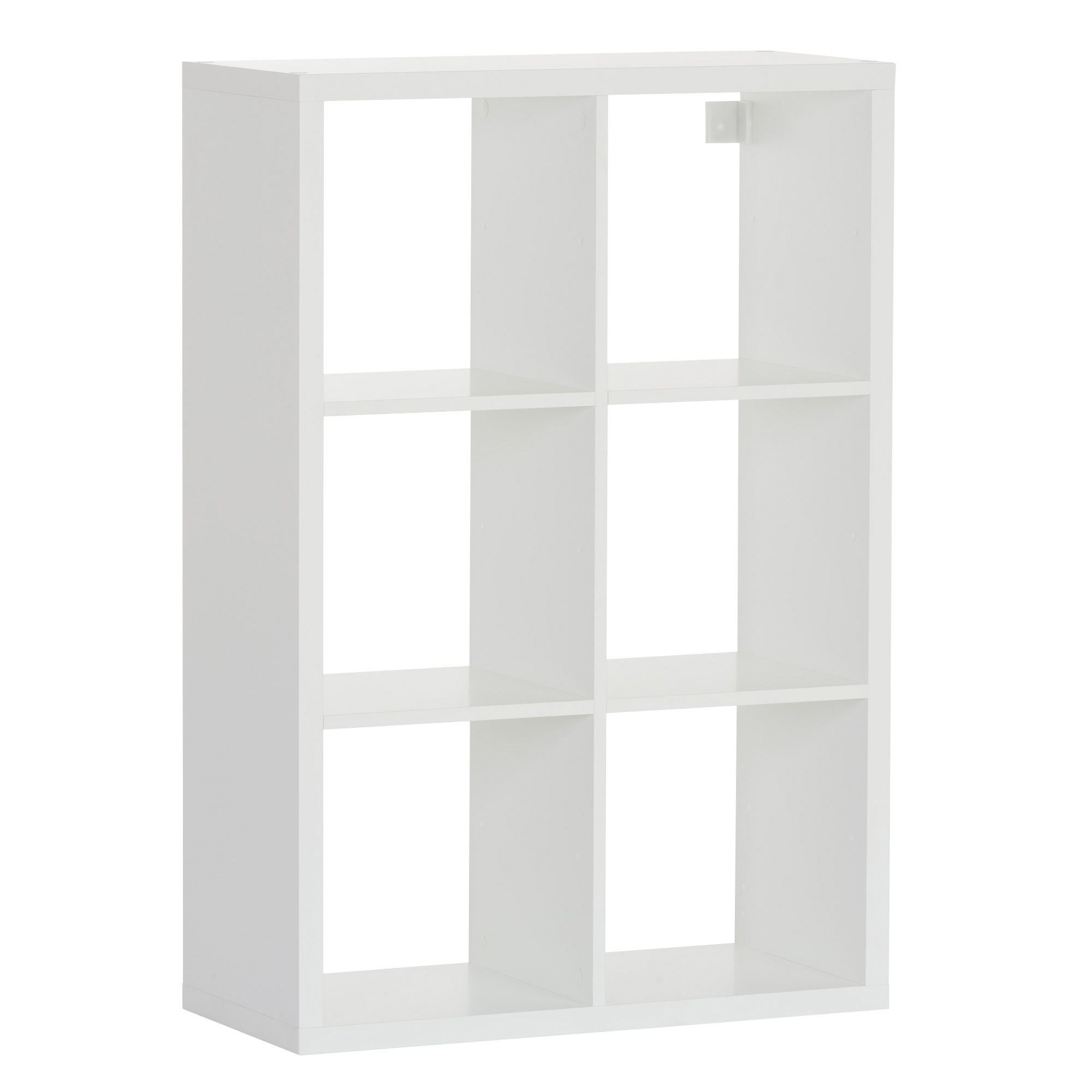 Form Mixxit White 6 Cube Shelving Unit (H)1080mm (W)737mm ...