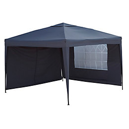 Blooma Tudy Pop Up Black Gazebo