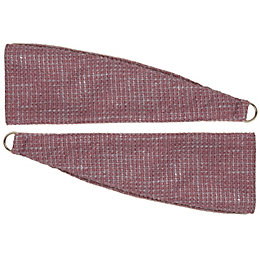 Colours Carina Blueberry Woven Curtain tie backs, Pack