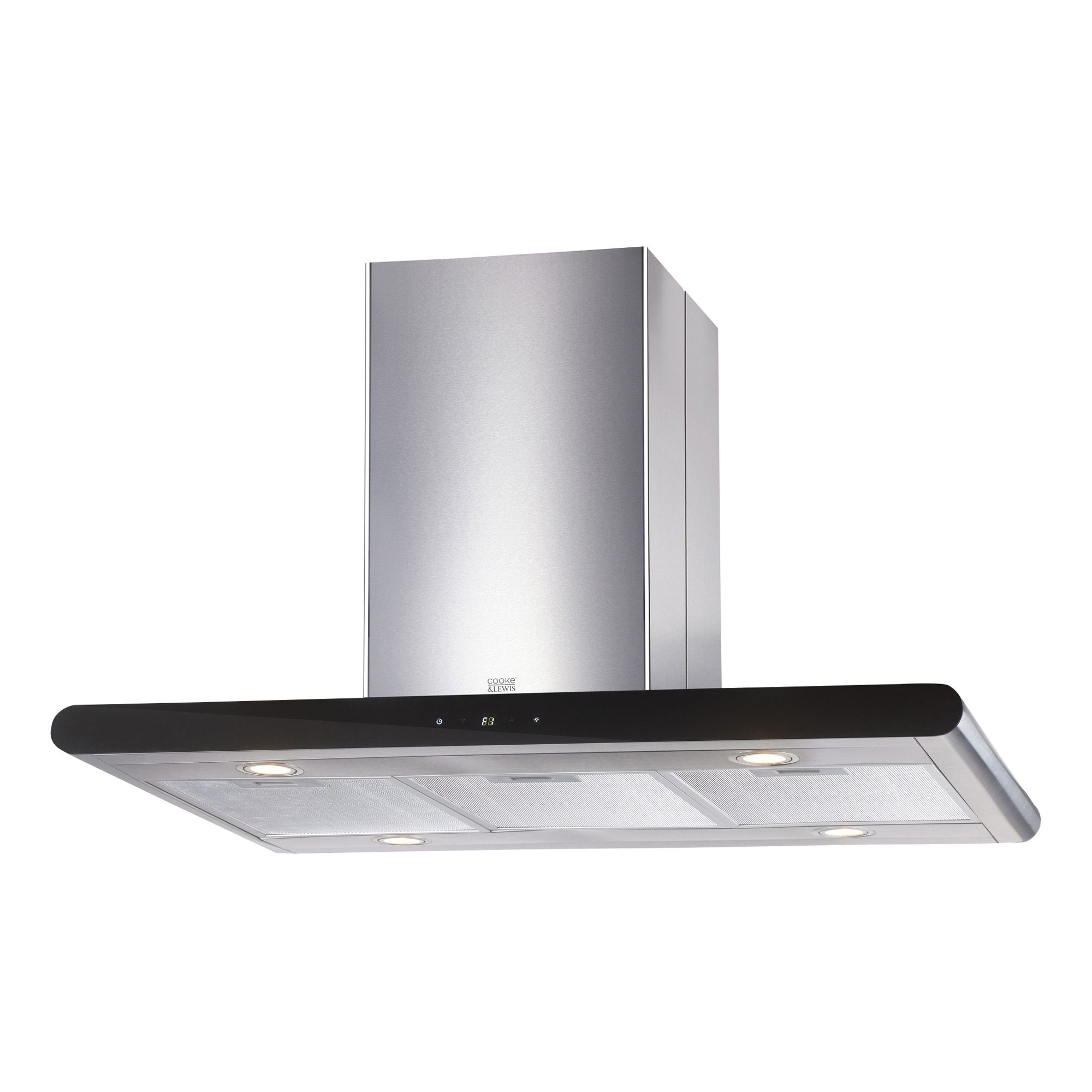 Cooke Amp Lewis Clibh 12 Stainless Steel Island Cooker Hood